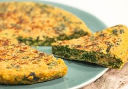 Tortilla de huevo y vegetales