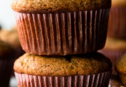 Muffins de proteína de calabaza sin gluten